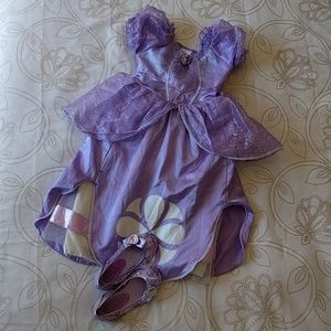 Disney Princess Sophia Dress & Shoes - Size 5/6